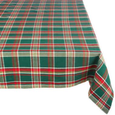 jcpenney.com | Design Imports Dark Green Plaid Tablecloth