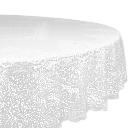 Design Imports Lace Victorian Round Tablecloth