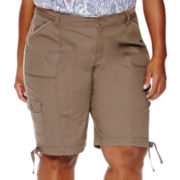 St. John's Bay® Cargo Bermuda Shorts - Plus