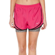 Nike® 2-In-1 Tempo Print Compression Shorts