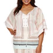 Bisou Bisou® Kimono Tie Kaftan Top - Plus