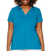 St. John's Bay® Short-Sleeve Polo Shirt - Plus