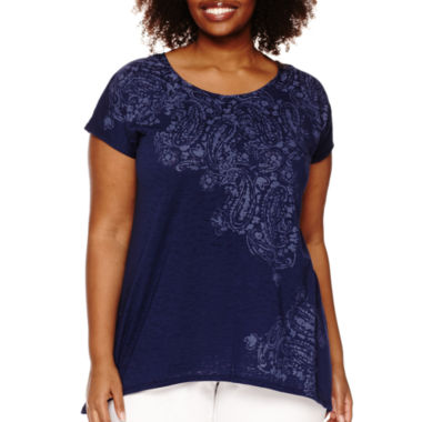 jcpenney.com | St. John's Bay® Short-Sleeve Graphic T-Shirt - Plus