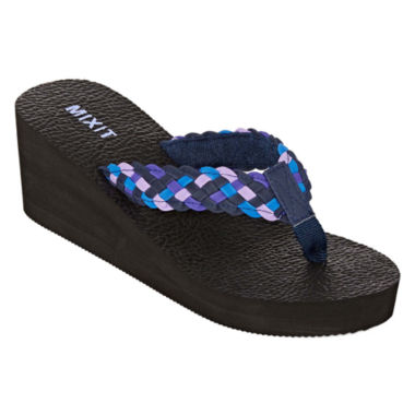 jcpenney.com | Mixit™ Yoga Mat Wedge Thong Sandals
