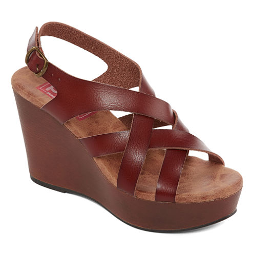 Pop Ayala Womens Wedge Sandals