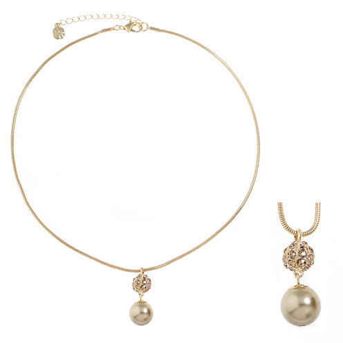 Monet Jewelry Brown Pendant