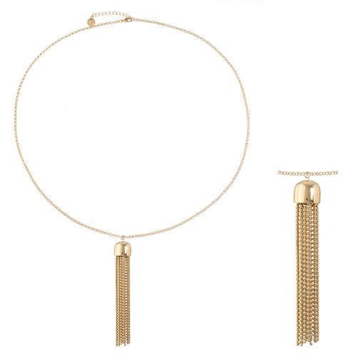 Liz Claiborne Womens Yellow Pendant Necklace