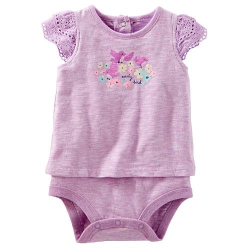 Oshkosh Short Sleeve Bodysuit - Baby Girls