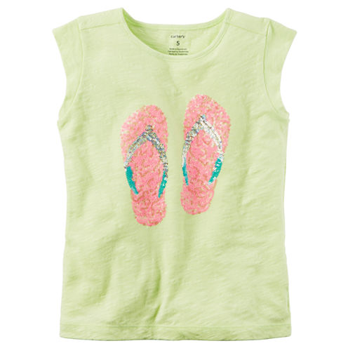 Carter's Knit Sleeveless T-Shirt-Preschool Girls