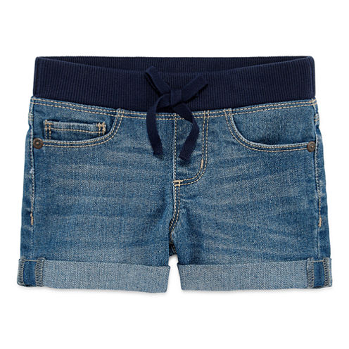 Arizona Knit At Waist Shortie Shorts - Preschool Girls