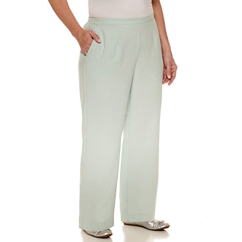 """Alfred Dunner Woven Flat Front Pants-Plus (27.5"""")"""