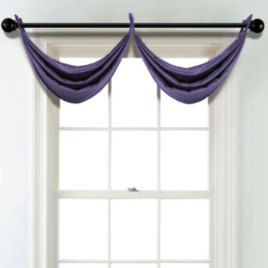 jcpenney.com | JCPenney Home Velvet Grommet Poly-Cotton Lined Waterfall Valance