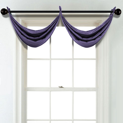 JCPenney Home Velvet Grommet Poly-Cotton Lined Waterfall Valance