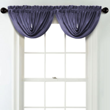 jcpenney.com | JCPenney Home Velvet Rod Pocket Unlined Waterfall Valance