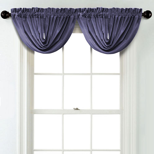 JCPenney Home Velvet Rod Pocket Unlined Waterfall Valance