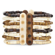 Mixit® Brown Multi-Row Stretch Bracelet