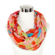 Watercolor Floral Infinity Scarf