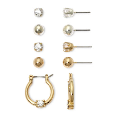 jcpenney.com | Mixit Silver- & Gold-Tone 5-pr. Earring Set