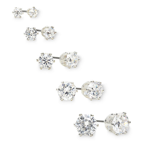 Mixit Crystal 5-pr. Stud Earring Boxed Set