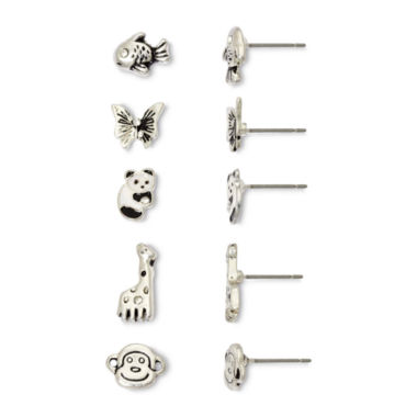 jcpenney.com | Sensitive Ears Land & Sea Critters 5-pr. Earring Set