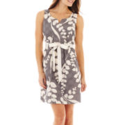 Robbie Bee® Sleeveless Notched-Neck Dress