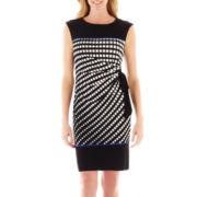 R&K Originals® Side-Tie Square Print Sheath Dress
