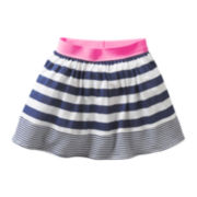 Carter's® Navy Mixed Print Skort - Girls 6m-24m
