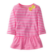Carter's® ¾-Sleeve Pink Tunic - Girls 2t-4t