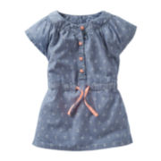 Carter's® Cap-Sleeve Anchor-Print Chambray Tunic - Girls 5-6x