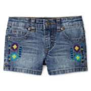 Arizona Embroidered Shorties - Girls 12m-6y