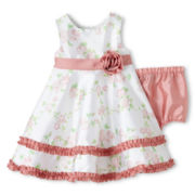 Wendy Bellissimo™ Shantung Flower Dress - Girls 6m-24m
