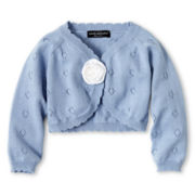Wendy Bellissimo™ Blue Rosette Cardigan - Girls 6m-24m