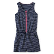 Arizona Striped, Sleeveless Romper - Girls 6-16 and Plus