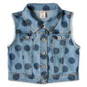 Arizona Print Denim Vest - Girls 6-16 and Plus