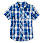 Arizona Short-Sleeve Classic Woven Shirt - Boys 6-18 and Husky