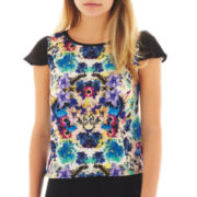 nicole by Nicole Miller® Colorblock Print Top