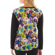 nicole by Nicole Miller® Long-Sleeve Knit Sweater
