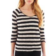MNG by Mango® 3/4-Sleeve Striped Top