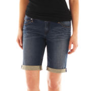 a.n.a® Five-Pocket Bermuda Shorts - Petite