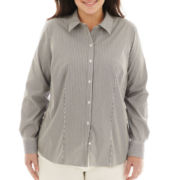 Liz Claiborne Long-Sleeve Woven Shirt - Plus