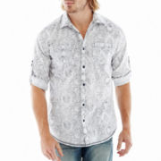 i jeans by Buffalo Roll-Sleeve Woven Shirt