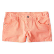 Total Girl® Twill Shorts - Girls 6-16 and Plus
