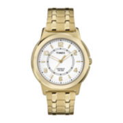 Timex® Mens Gold-Tone Stainless Steel Expansion Strap Watch