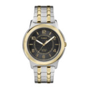 Timex® Mens Two-Tone Stainless Steel Expansion Strap Watch
