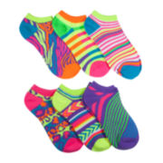 Mixit™ 6-pk. Bright Patterned No-Show Socks
