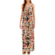 Trixxi® Sleeveless Overlay Maxi Dress