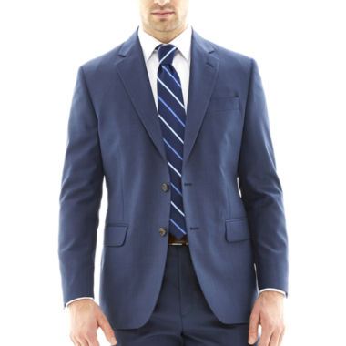 jcpenney.com | Stafford® Travel Medium Blue Suit Jacket - Classic Fit