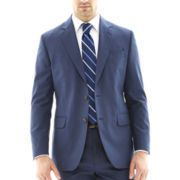 Stafford® Travel Medium Blue Suit Jacket