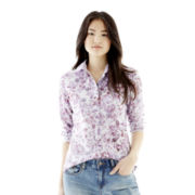 Joe Fresh™ Long-Sleeve Floral Print Blouse