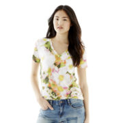 Joe Fresh™ Short-Sleeve Blooming Flower Print T-Shirt